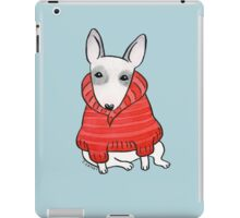 English Bull Terrier Wearing Red Chunky Knit iPad Case/Skin