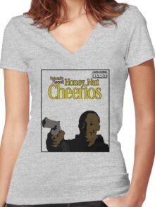 Omar Little Honey Nut Women's Fitted V-Neck T-Shirt