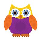 Star Owl - Yellow Orange Purple by Adamzworld