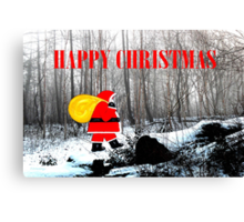 HAPPY CHRISTMAS 60 Canvas Print