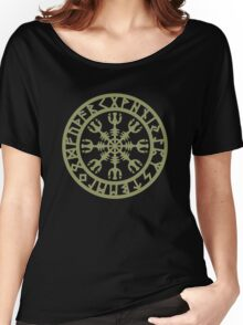 Helm of awe, Aegishjalmur, Runic Amulet Women's Relaxed Fit T-Shirt
