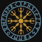 Helm of awe, Aegishjalmur, Runic Amulet by nitty-gritty
