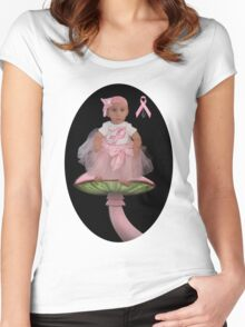 ✿♥‿♥✿HELP FIND A CURE CANCER AWARENESS TEE SHIRT FOR KIDS AND ADULTS✿♥‿♥✿ Women's Fitted Scoop T-Shirt