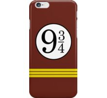 Nine and Three Quarters iPhone Case/Skin