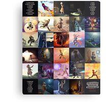 (Fictional) Videogame Heroines ABC Metal Print