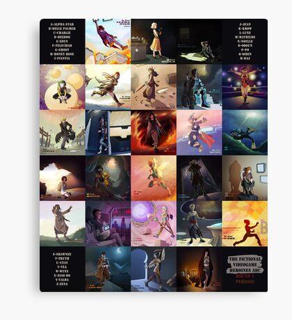 (Fictional) Videogame Heroines ABC Canvas Print