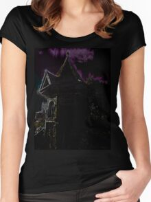 The Guest (Ghost) House Women's Fitted Scoop T-Shirt