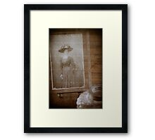 """Remember the woman with the hat"" Framed Print"