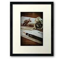 """Letter to my son"" Framed Print"