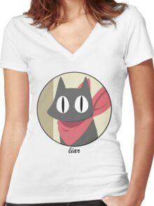 sakamoto-san Women's Fitted V-Neck T-Shirt