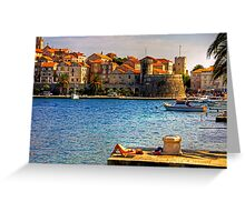 Korcula Harbour Greeting Card