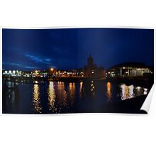 Cardiff Bay at Night Poster