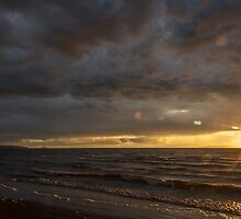 Setting sun over the Isle of Arran #3 by AyrshireImages
