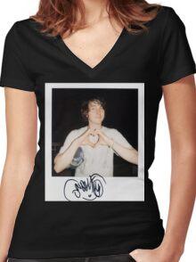 Noah Lennox Polaroid Women's Fitted V-Neck T-Shirt