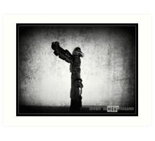 West Coast Totem Pole Art Print