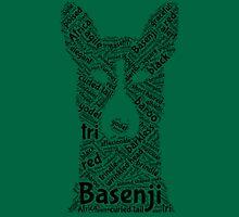 Basenji -Word Cloud Unisex T-Shirt