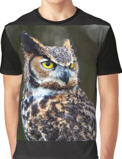 Great Horned Owl Close Up Graphic T-Shirt