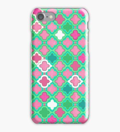 Girly Moroccan Lattice Pattern iPhone Case/Skin