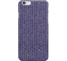 Sketchy Knit in Blue and Grey iPhone Case/Skin