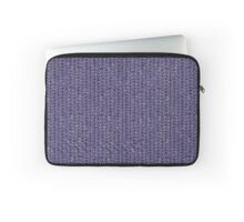 Sketchy Knit in Blue and Grey Laptop Sleeve