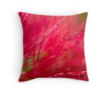 Bottle Brush Abstract Throw Pillow