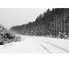Snow in Black and White Photographic Print
