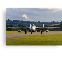 DH100 Vampire FB.6 PX-K LN-DHY taxies in Canvas Print