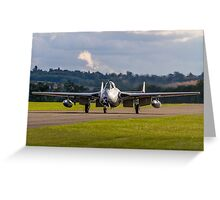 DH100 Vampire FB.6 PX-K LN-DHY taxies in Greeting Card
