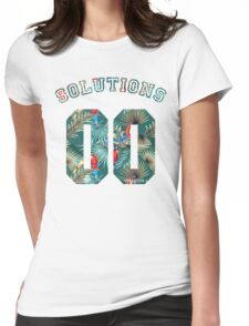 99 problems? 00 solutions! *Parrot Floral* Womens Fitted T-Shirt
