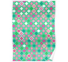 Girly Moroccan Lattice Pattern Poster
