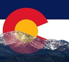 Pikes Peak Colorado Flag by emilycl88