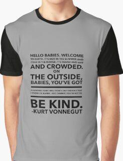Vonnegut Quote Graphic T-Shirt