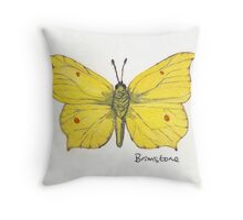 Brimstone butterfly. Throw Pillow