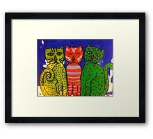 Three Kitties by Terri Holland Framed Print