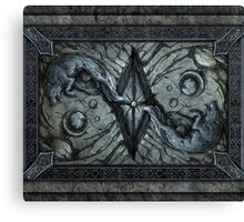 The stone wolves Canvas Print
