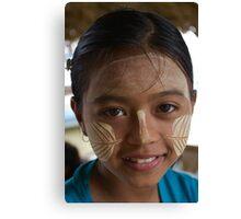 Thanaka girl, Mandalay Canvas Print