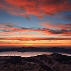 Sunset on Crater Lake National Park by DArthurBrown