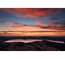 Sunset on Crater Lake National Park Photographic Print