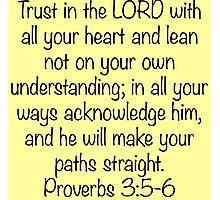 Proverbs 3:5-6 Photographic Print