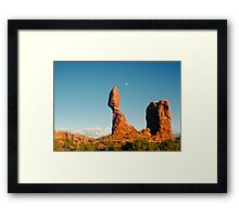Balanced Rock Holga Style Photograph Framed Print