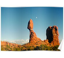 Balanced Rock Holga Style Photograph Poster