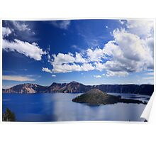Big Sky over Crater Lake National Park Poster