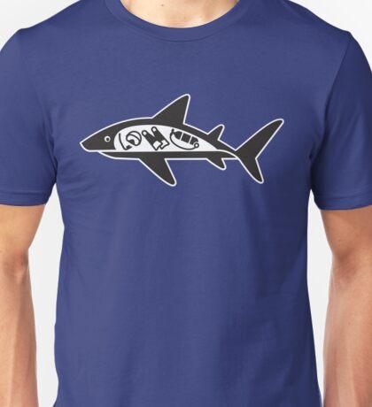 Funny Shark ate scuba diver Unisex T-Shirt