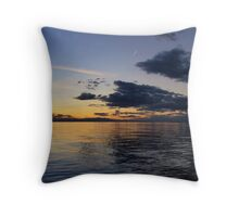 Panoramic Sunset in Thessaloniki I Throw Pillow