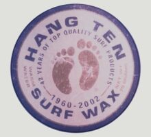 Hang Ten Surf Wax Vintage Beach Circle Logo by No17Apparel