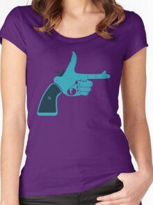 Pistol - Hand Gestures Women's Fitted Scoop T-Shirt