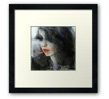 pensive girl Framed Print