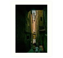 Siena passage Art Print