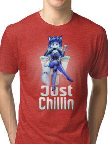 Krystal is Chillin  Tri-blend T-Shirt