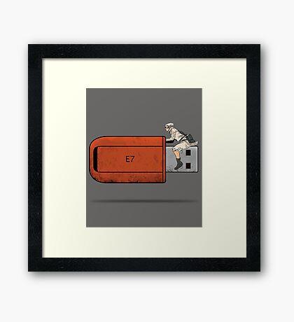 USB Rider Framed Print